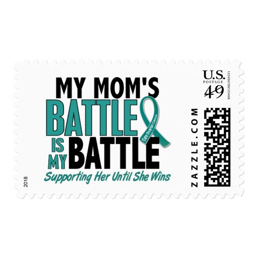 My Battle Too Mom Ovarian Cancer Postage Stamps