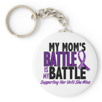 My Battle Too Mom Pancreatic Cancer Keychain