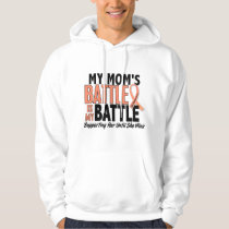 My Battle Too Mom Uterine Cancer Hoodie