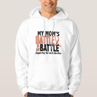 My Battle Too Mom Uterine Cancer Hoodie