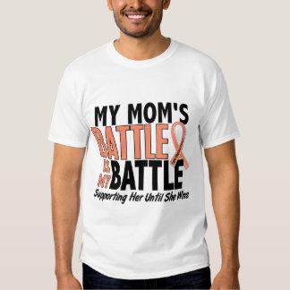 My Battle Too Mom Uterine Cancer Shirts