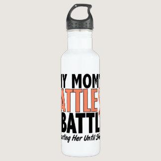 My Battle Too Mom Uterine Cancer Stainless Steel Water Bottle