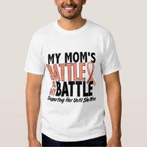 My Battle Too Mom Uterine Cancer T Shirt