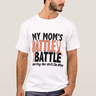 My Battle Too Mom Uterine Cancer T-Shirt
