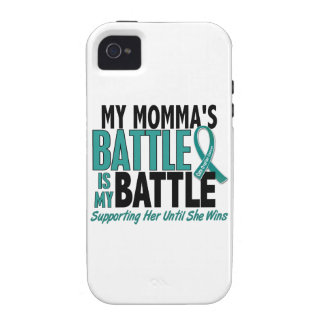 My Battle Too Momma Ovarian Cancer Case-Mate iPhone 4 Cases