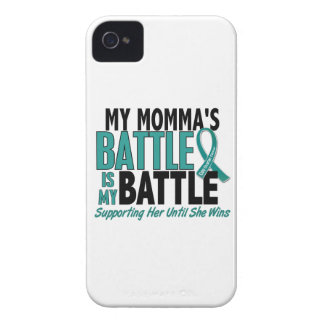 My Battle Too Momma Ovarian Cancer iPhone 4 Case-Mate Cases