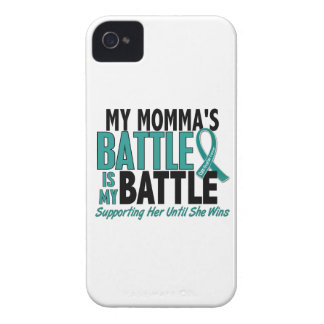 My Battle Too Momma Ovarian Cancer iPhone 4 Case-Mate Case