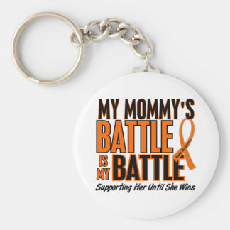 My Battle Too Mommy Leukemia Key Chain