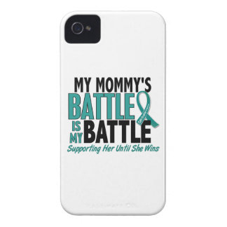 My Battle Too Mommy Ovarian Cancer Case-Mate iPhone 4 Case