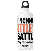 My Battle Too Mommy Uterine Cancer Water Bottle