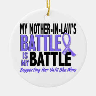 My Battle Too Mother-In-Law Esophageal Cancer Ornament