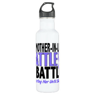My Battle Too Mother-In-Law Esophageal Cancer Stainless Steel Water Bottle