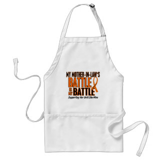 My Battle Too Mother-In-Law Leukemia Adult Apron