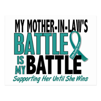 My Battle Too Mother-In-Law Ovarian Cancer Postcard