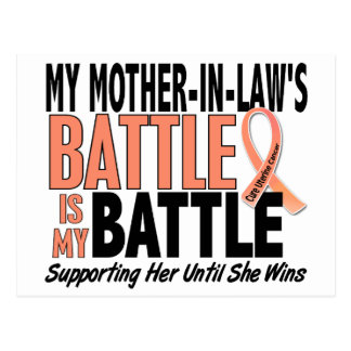 My Battle Too Mother-In-Law Uterine Cancer Postcard