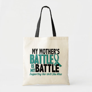 My Battle Too Mother Ovarian Cancer Tote Bag