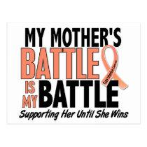 My Battle Too Mother Uterine Cancer Postcard