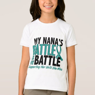 My Battle Too Nana Ovarian Cancer T-Shirt