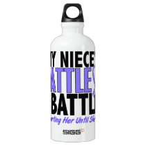 My Battle Too Niece Esophageal Cancer Aluminum Water Bottle