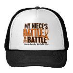 My Battle Too Niece Leukemia Trucker Hat