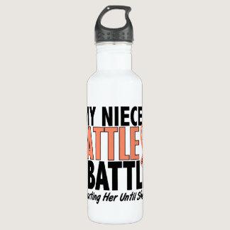 My Battle Too Niece Uterine Cancer Water Bottle