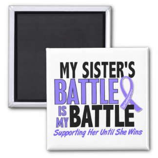 My Battle Too Sister Esophageal Cancer 2 Inch Square Magnet