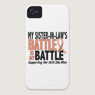 My Battle Too Sister-In-Law Uterine Cancer iPhone 4 Case-Mate Case