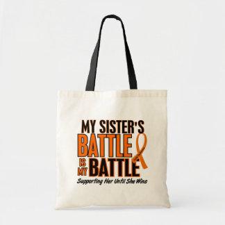 My Battle Too Sister Leukemia Tote Bags