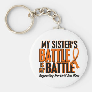 My Battle Too Sister Leukemia Keychain