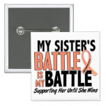 My Battle Too Sister Uterine Cancer Button