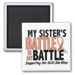 My Battle Too Sister Uterine Cancer Refrigerator Magnet