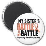 My Battle Too Sister Uterine Cancer Refrigerator Magnets