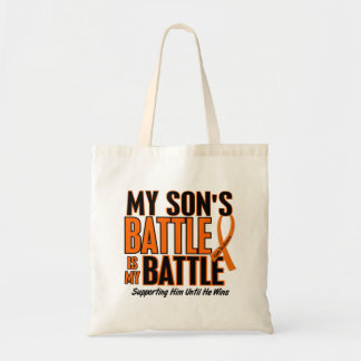 My Battle Too Son Leukemia Budget Tote Bag