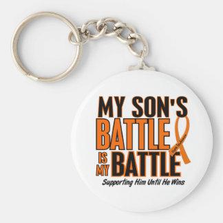 My Battle Too Son Leukemia Keychain