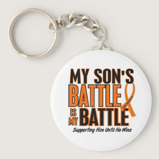 My Battle Too Son Leukemia Keychain