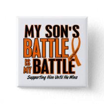 My Battle Too Son Leukemia Pinback Button