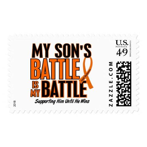 My Battle Too Son Leukemia Postage Stamp