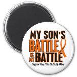 My Battle Too Son Leukemia Refrigerator Magnet