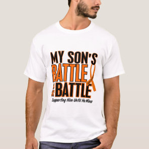 My Battle Too Son Leukemia T-Shirt