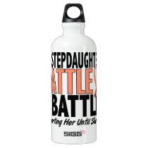 My Battle Too Stepdaughter Uterine Cancer Aluminum Water Bottle