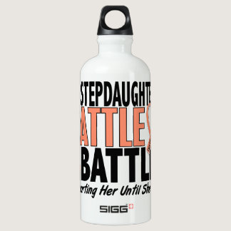 My Battle Too Stepdaughter Uterine Cancer Aluminum Water Bottle