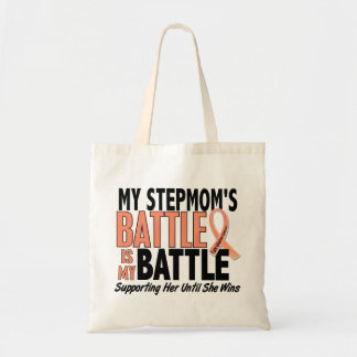 My Battle Too Stepmom Uterine Cancer Tote Bag