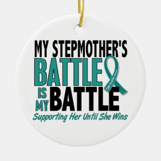 My Battle Too Stepmother Ovarian Cancer Christmas Ornament