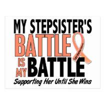 My Battle Too Stepsister Uterine Cancer Postcard