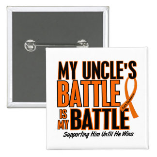 My Battle Too Uncle Leukemia 2 Inch Square Button