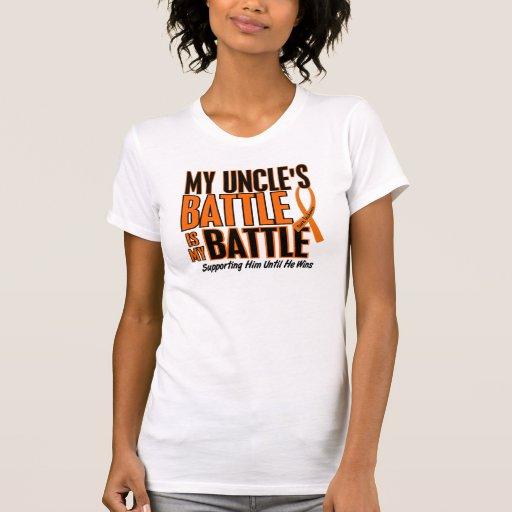 My Battle Too Uncle Leukemia Tee Shirts