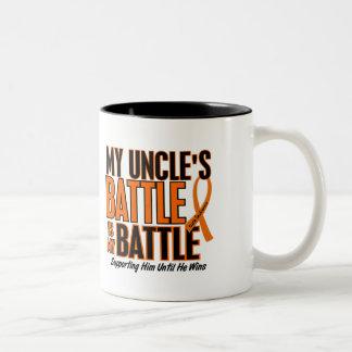 My Battle Too Uncle Leukemia Two-Tone Coffee Mug