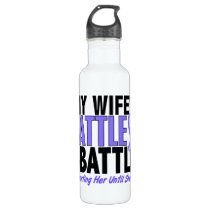 My Battle Too Wife Esophageal Cancer Stainless Steel Water Bottle