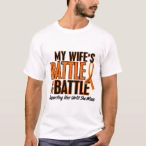 My Battle Too Wife Leukemia T-Shirt