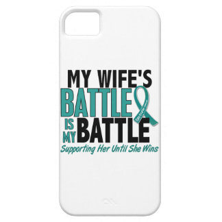 My Battle Too Wife Ovarian Cancer iPhone SE/5/5s Case